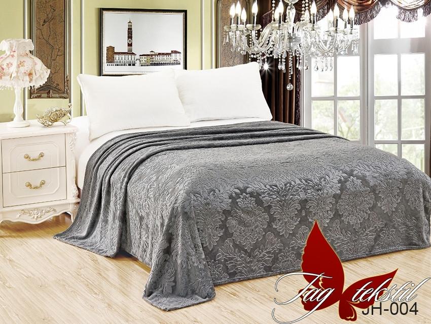 Плед покрывало 160х220 велсофт Серебро на кровать, диван