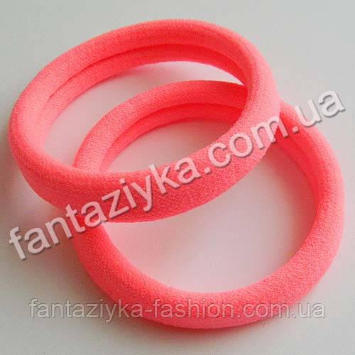 Бесшовная резинка микрофибра 5см, розовая