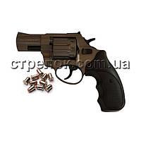 """Револьвер под патрон Флобера Stalker 2.5"""" titanium черная рукоять"""