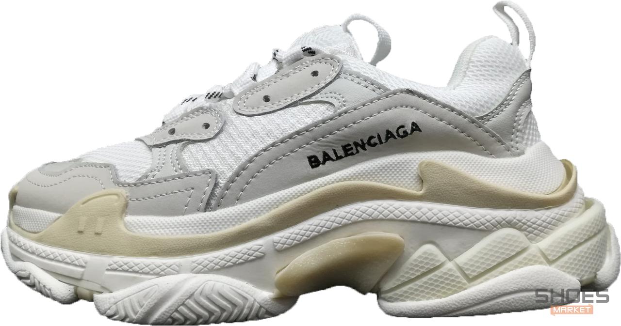 Мужские кроссовки Balenciaga Triple S White/Grey 520145-W09E1-9000, Баленсиага Трипл С