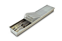 Радіатор для панорамних вікон конвектор в підлогу без вентилятора TeploBrain E 200 mini (B; L; H) 200.2750.75
