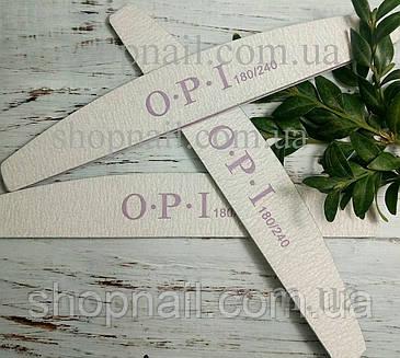 Пилка для ногтей OPI полукруг 100/120, серая, фото 2