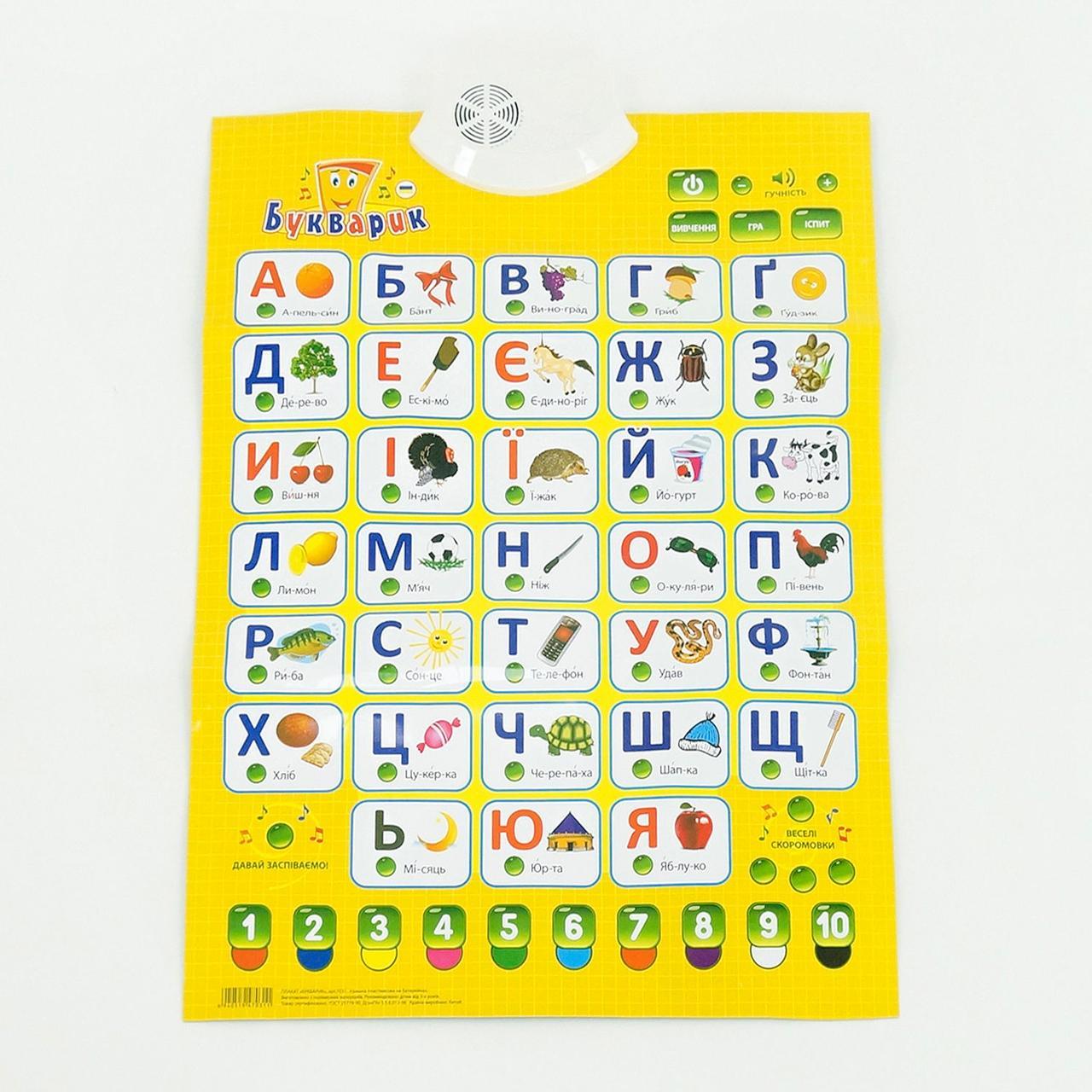 Плакат Букварик Play Smart  украинский алфавит