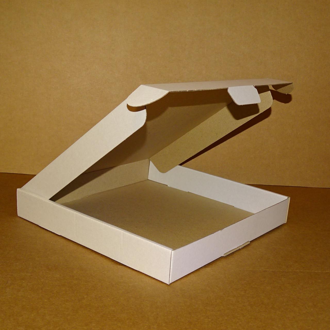 Коробка самозбираюча біла 280х280х40