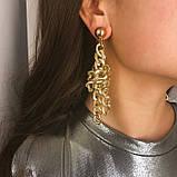 "Серьги с крупными звеньями ""Chain knot"", 1 пара, фото 2"