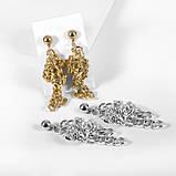 "Серьги с крупными звеньями ""Chain knot"", 1 пара, фото 6"