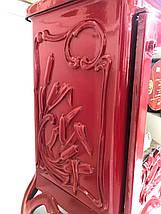 Печь камин чугунная INVICTA Chambord красная, фото 3