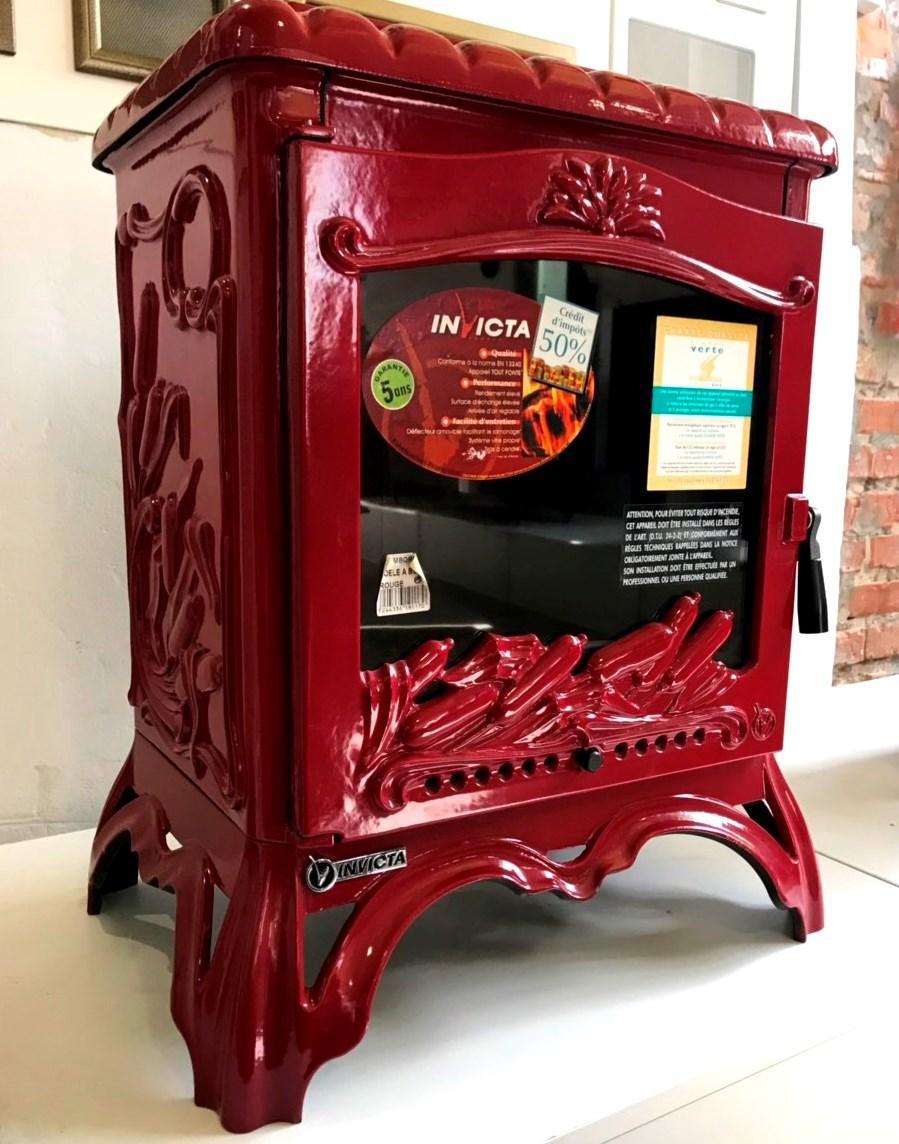 Печь камин чугунная INVICTA Chambord красная