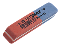 Ластик с абразивной частью Buromax 58 x 14 x 8 мм