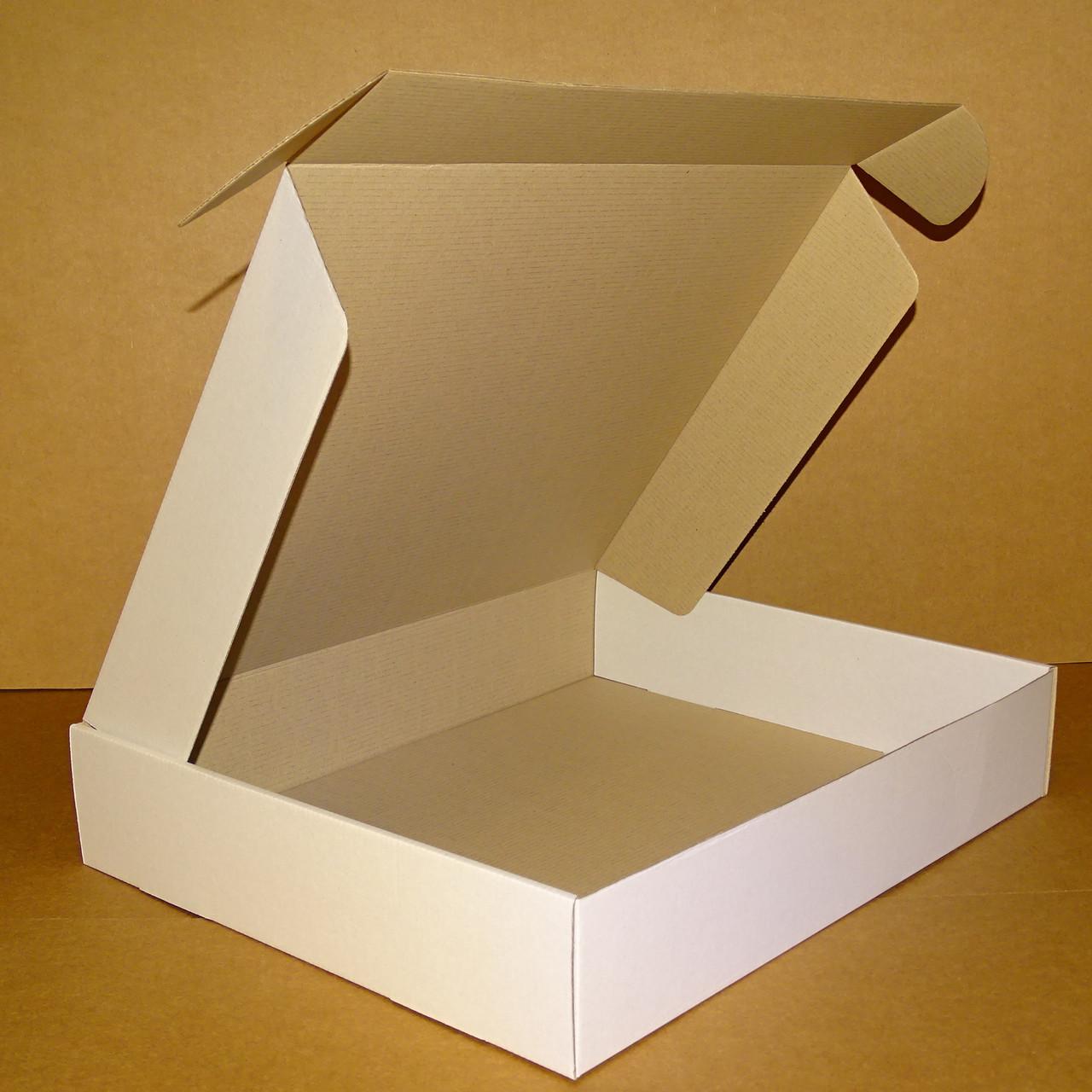 Коробка самозбираюча біла 430х350х80