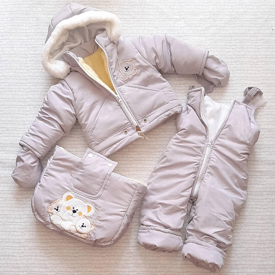 Детский зимний комбинезон-трансформер 3в1( от0до2лет)