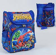 Каркасный рюкзак для школьников Спайдермен 3D с ортопедической спинкой