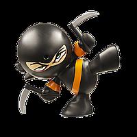 Интерактивная фигурка Funrise Ниндзя Kung Pi Yew Черное кимоно, оранжевый пояс (70503)