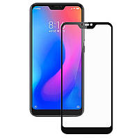 Защитное стекло для Xiaomi Mi 8 Lite Ксиоми Сяоми клеится по всей поверхности черное Full Glue 2.5D