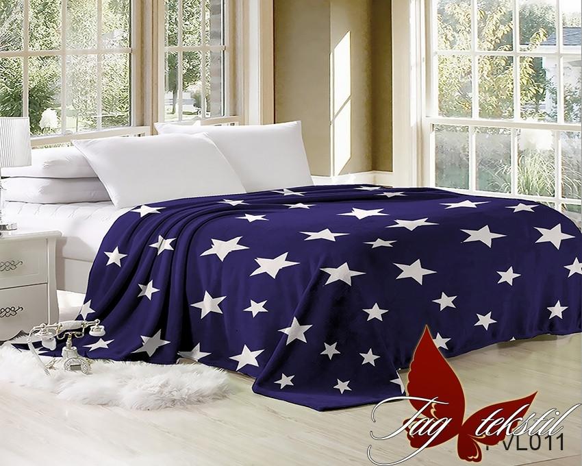 Плед покрывало 200х220 велсофт Звезды на кровать, диван