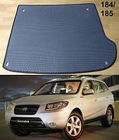 Коврик багажника Hyundai Santa Fe '06-10 CM (7 мест). Автоковрики EVA, фото 1