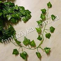 Длинная лиана с листьями мелкого плюща зеленая 200см