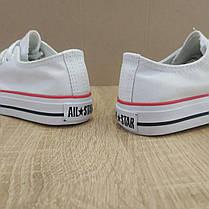25-28 рр Дитячі та підліткові кеди конверси AIL STAR в стилі Converse chuck teylor білі, фото 2