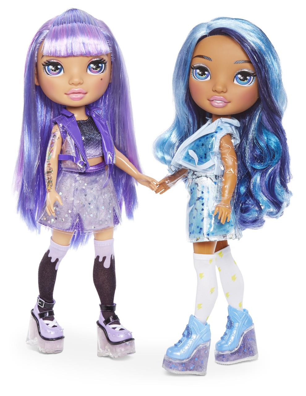 Набор Пупси Радужные Девочки Poopsie Rainbow Girls Фиолетовая Леди или Голубая Леди Серия 1+ 20 сюрпризов