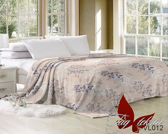 Плед покрывало 200х220 велсофт Орнамент на кровать, диван, фото 2