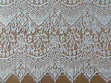 Ажурне французьке мереживо шантильї (з віями) білого кольору шириною 0,80 м, довжина купона 3,0 м.