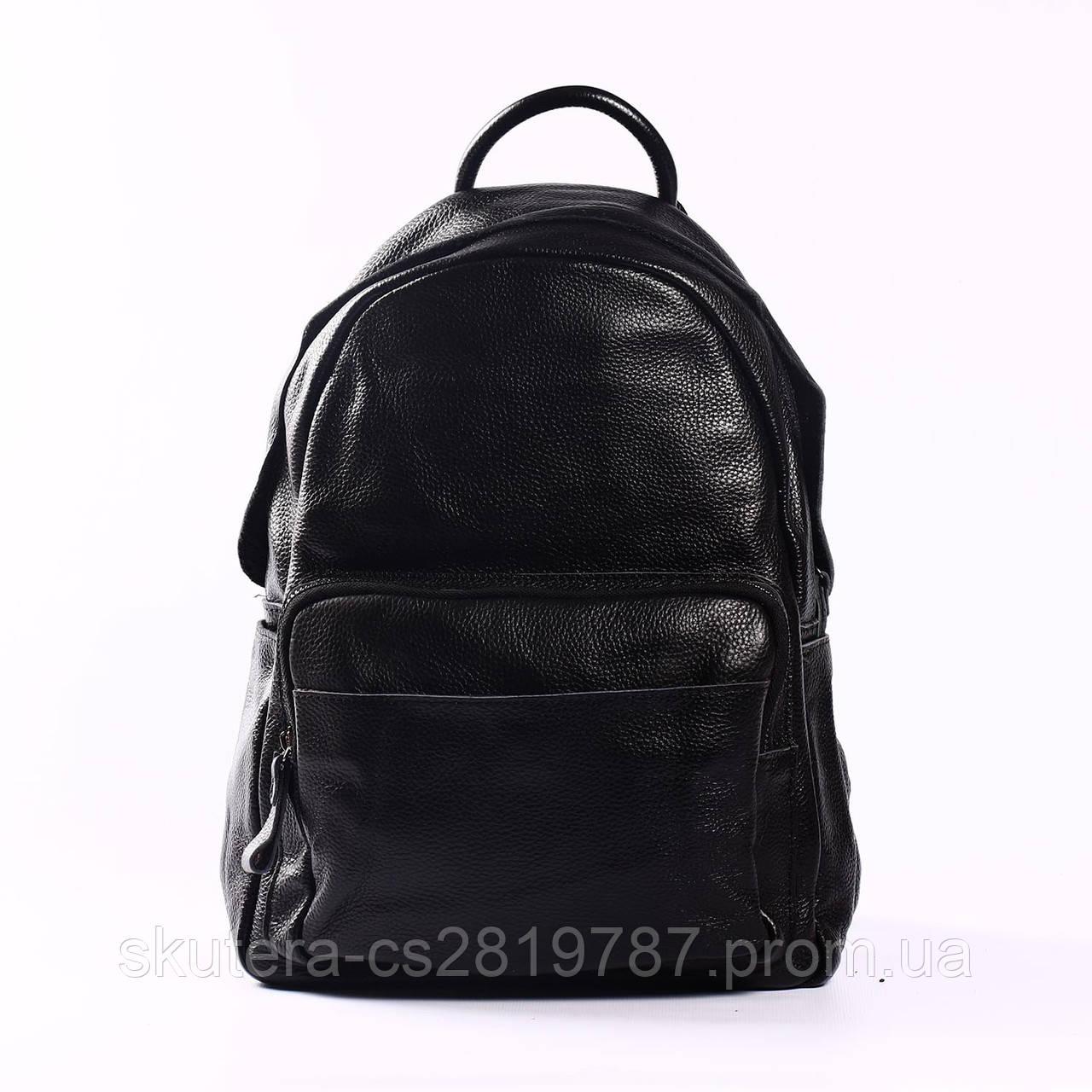 """Кожаный рюкзак черный """"Агрус Black"""", фото 1"""