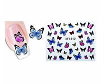"""Наклейки для ногтей """"Бабочки"""" STZ-025"""
