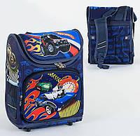 Каркасный рюкзак для школьников Хот Вилс 3D с ортопедической спинкой