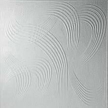 Потолочная плитка, пенополистирольная,белая 50х50 см
