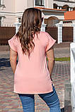 Футболка летняя бля пышных дам, вискоза с аппликацией с камней, четыре цвета, р.48-50;52-54;56-58 код М174П, фото 4