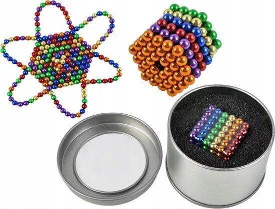 Неокуб NEOCUBE радужный 5 мм 216 сфер, магнитные шарики, головоломка