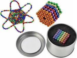 Неокуб NEOCUBE райдужний 5 мм 216 сфер, магнітні кульки, головоломка