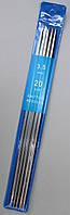 Спицы носочные металлические Ø - 3,5мм, 20см. 5шт/уп