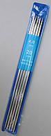 Спицы носочные металлические  Ø - 4,0мм, 20см. 5шт/уп