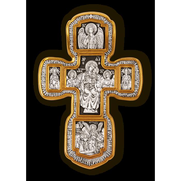 Распятие Христово. Святая Троица. Свт. Николай Чудотворец. Мч. Трифон. Три святителя. Икона Божией Матери