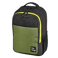 Рюкзак Herlitz be.bag be.clever Black&Olive чорно-оливковий, фото 1