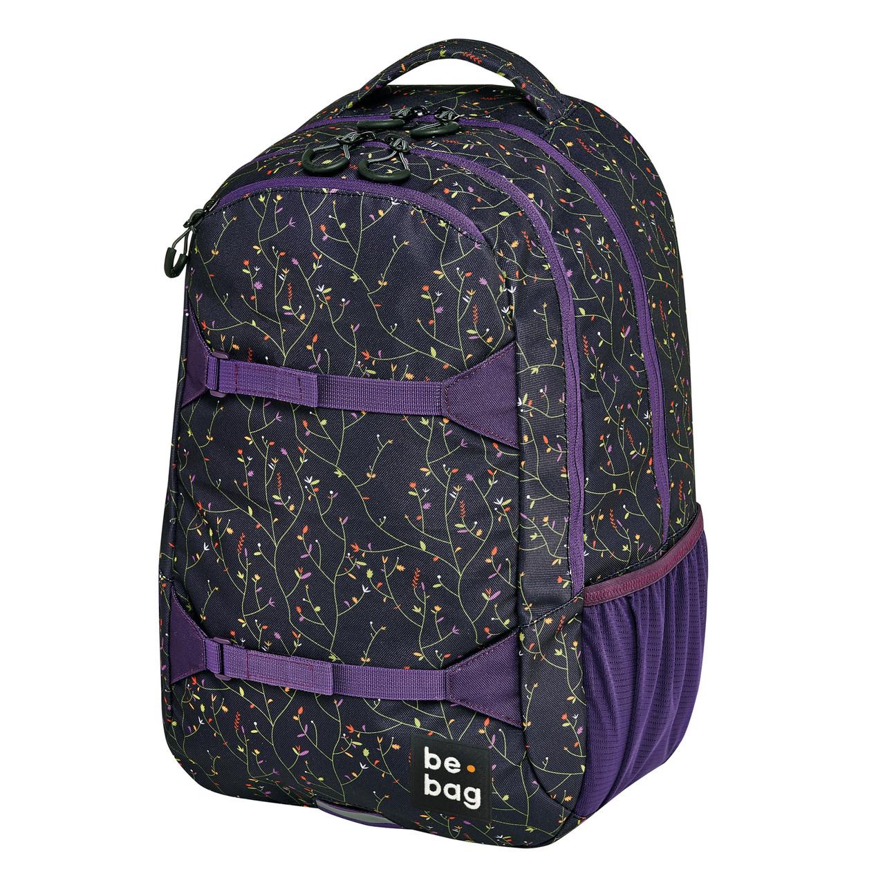 """Рюкзак Herlitz Be.Bag be.explorer Flower Wall Фиолетовый""""квіти"""""""