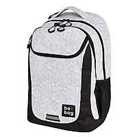 Рюкзак Herlitz Be.Bag be.active Block by Block чорно-білий, фото 1