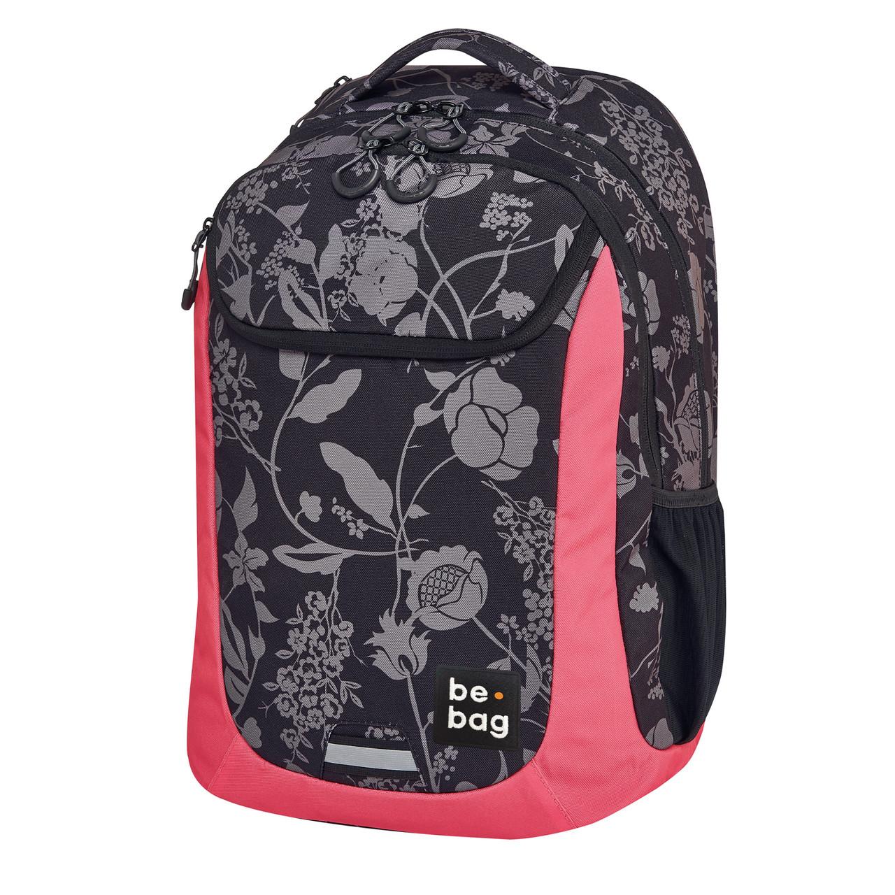 """Рюкзак Herlitz Be.Bag be.active Mystic Flowers чорно-рожевий """"квіти"""""""