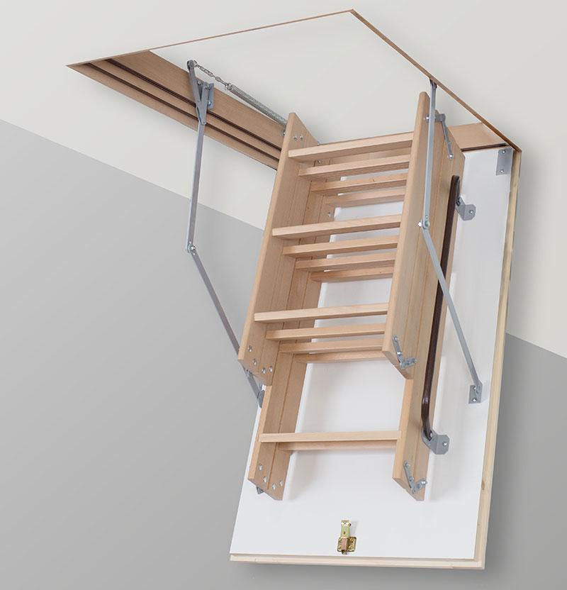 Лестница на чердак TermoPlus 3s крышка 46мм ( Чердачные лестницы)