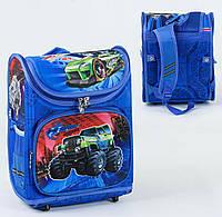 Каркасный рюкзак для школьников Джип хот вилс 3D с ортопедической спинкой
