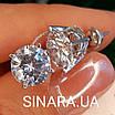 Мужские серьги гвозди серебряные с крупным камнем в стиле Диего Марадонна - Серебряная мужская серьга, фото 2