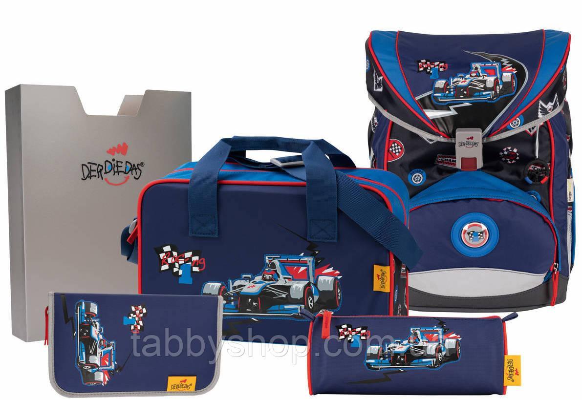 Ранец школьный DerDieDas Ergoflex Racing с наполнением (5 предметов)