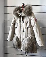 Зимняя куртка - парка для девочки