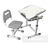 Комплект парта і стілець-трансформери FunDesk Sole + лампа