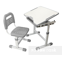 Комплект парта і стілець-трансформери FunDesk Sole + лампа, фото 1