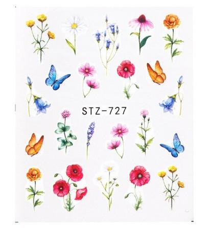"""Наклейки для ногтей """"Цветочки"""" STZ-727"""