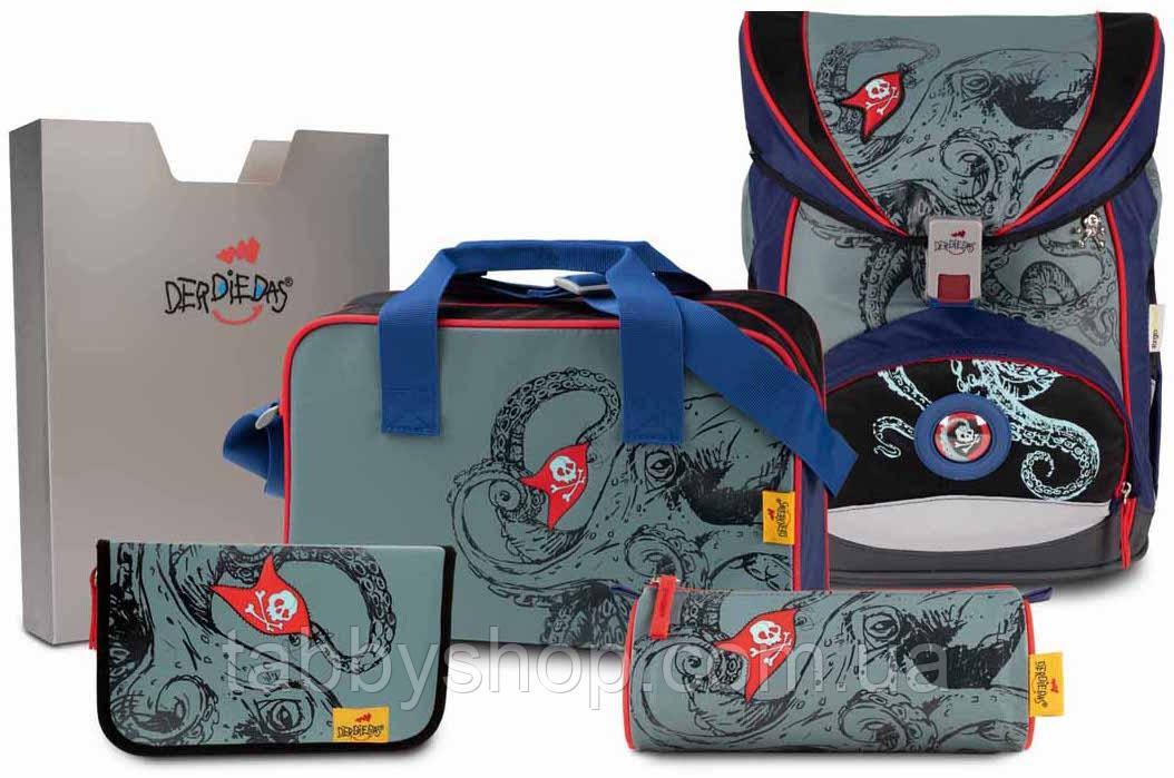 Ранец школьный DerDieDas Ergoflex Octopus с наполнением (5 предметов)
