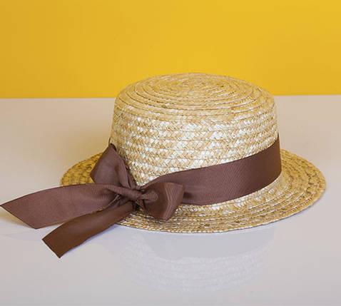 Канотье с коричневой лентой, фото 2
