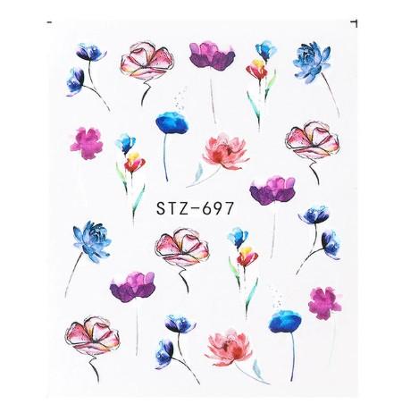 """Наклейки для ногтей """"Цветочки"""" STZ-697"""